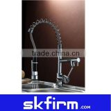 Chrome Pull out spray swivel mixer tap faucet 4 kitchen bathroom basin sink