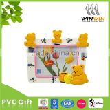 Personalized high quality 3D Cute Bear PVC Photo Frame/Picture Frame
