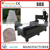 The Lathe bed is wholly cast with Iron 3D CNC Stone Engraving Machine
