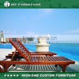 Wooden Lounge Beach Chair for Outdoor