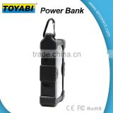 Waterproof Dustproof and Shockproof Power Bank with Solar energy LED light and SOS signal light to show