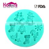 Hot sales cake decoration Christmas silicone fondant mold new design cake mold Silicon christmas pattern fondant mold