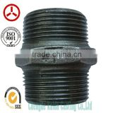 ISO SGS 280 nipple Thread banded Malleable black cast iron pipe fitting Manufacturer 280 Nipple