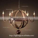 INQUIRY about Classical Candelabrum Suspension Lights Loft retro bar wooden lamp droplight barrel chandelier