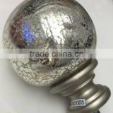 "Mercury glass Finial extendable iron curtain rod track runner ROD DIAMETER 1"" 5-8"" 6-8"" 1-2"" 1-1/2"""