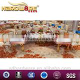 Half moon banquet table stainless steel frame banquet table wholesale
