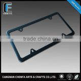 Custom stainless steel America size matte black car blank license plate frame,car license frame