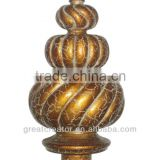 Home Decoration Accessories Museum Gold Finials; Window Drapery Rod Parts; Curtain Accessories Made in China