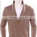Long Sleeve Button Cable Knit Cardigan man sweater
