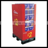 supermarket retail dump bins for food , promotion food cardboard display , promotion display stand for food