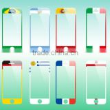 9H brazil world cup colorful screen protector for iPhone