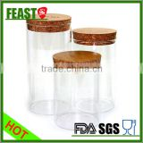 Various size glass canning jar with cork wood lid                                                                         Quality Choice