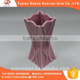 Pink fashion craft ceramic flower vase