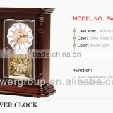Roman digital shell dial table clock with Westminster music hand-crafted carving and traditional lacquer finish wood PW1417