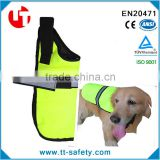 Dog Raincoat with hook and loops chest and optional reflective strips