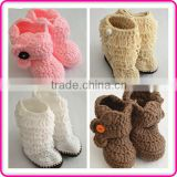 China cheap handmade girls crochet boots fancy baby girls shoes                                                                         Quality Choice