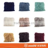 New arrival square faux fur cushion Mongolian fur plush pillow                                                                         Quality Choice