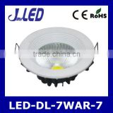 Round shape low price aluminum body 7w led downlight light