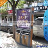 double side bus station advertising led light box with trash bin new products 2016 innovative