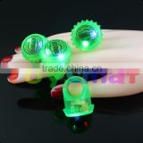china wholesale led glowing finger ring , led flashing ring light , barware supplying custom logo led ring