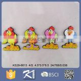 lovely soft pvc souvenir rooster refrigerator magnet