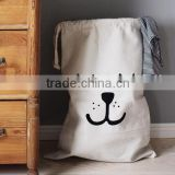 handmade cotton canvas bag/ custom drawstring cotton bag/ bsci audit factory cotton drawstring bag