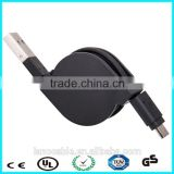 Black blue pink white green retractable micro usb cable                                                                                                         Supplier's Choice