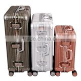 2015 aluminum fansion suitcase trolley luggage aluminium travel bag