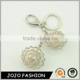 China souvenir clear thread design silver plated pearl metal keychains wholesale                                                                                                         Supplier's Choice