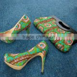 High quality fashion african ankara shoes african wax print shoes                                                                         Quality Choice