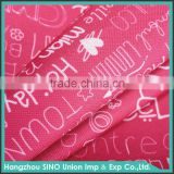 Plain polyester material 300d waterproof pu fabric for oil painting