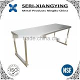 NSF Approval Stainless steel kitchen work table single tier overshelf/table mounted shelf