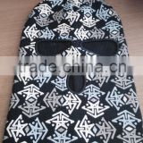 Black and white printed fashion winter warm balaclava hats in bulk