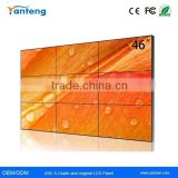 700nits Samsung 46inch full hd seamless lcd display wall with 3.9mm Ultra Narrow Bezel