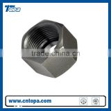 China products zinc-plated Carbon steel yellow or white plated female hydraulic fitting nut