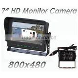 "Easy-fit 12V/24V 7"" Dash Mounted Monitor and Black day & night CCD Compact Bracket Reversing Camera System"