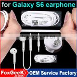 2015 New China in-Ear Earphone with Flat Cable Mic Microphone Stereo Beats Wired for Samsung Mobile Phone Galaxy S6/S6 Edge