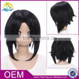 Top quality hot sale synthetic short wigs for Womancosplay wigs Hakuouki Hijikata Toshizo chinese hair wig store