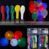 Party decoration luminous flashing led balloon , led glowing balloons , inflatable led balloon