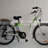 Cheaper version 700CC city electric bicycle with brushless gear motor 36V 350W ( HJ-14C31 )
