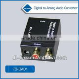 US/EU standards, CE/FCC/UL certified Analog to Digital Optical Coaxial Audio Converter Adapter with 3.5mm & RCA Inputs