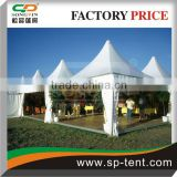 pagoda 4x4m with wooden flooring system for outdoor party