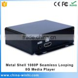 Real 1080P decode Media Player HDMI Output Seamless Looping usb flash drive advertising mini portable divx player hd player porn