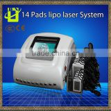 Portable weight Loss machine 14 Pads Low Level Laser Therapy Diode Lipo Laser Power Laser Slimming