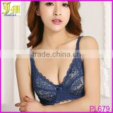 Hot Women Ladies Sexy Underwired 3/4 Coverage Transparent Non Padded Lace Sheer Thin Bra