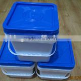 5 L PP Plastic square bucket with lid food frade 1.3 gallon plastic pail clear pail 5 liter
