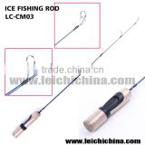 Solid graphite blank ice fishing rod