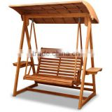 Best selling plain wood swing chair wooden swing with wood canopy