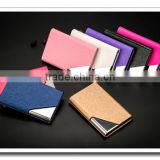 color leather credit card wallet,pu wallet, coin wallet for wholesale
