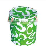 Green Color Household Essentials Pop-up Mesh Hamper